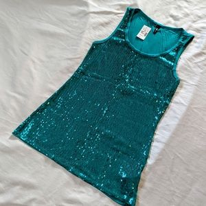 Maurices Sequin Tank - Teal